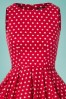 Dolly and Dotty Red and White Polkadot Swing Dress 102 27 25687 20180320 0002V