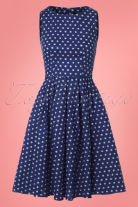 Dolly and Dotty Blue and White Polkadot Swing Dress 102 27 25688 20180320 0005W