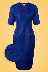Lindy Bop Marguerite Royal Blue Twin Set 100 30 25795 20180406 0004wv