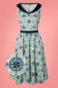 Dancing Days by Banned Compass 50s Nautical Blue Dress 102 39 24308 20180327 0001wv