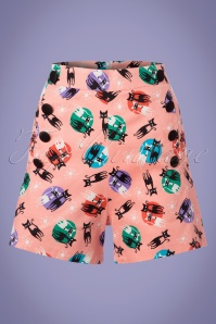 Vixen Katheryn Retro Cats Shorts in Pink 130 29 23229 20180410 0001w