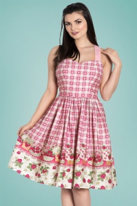 50s Strawberry Shortcake Dress in Pink
