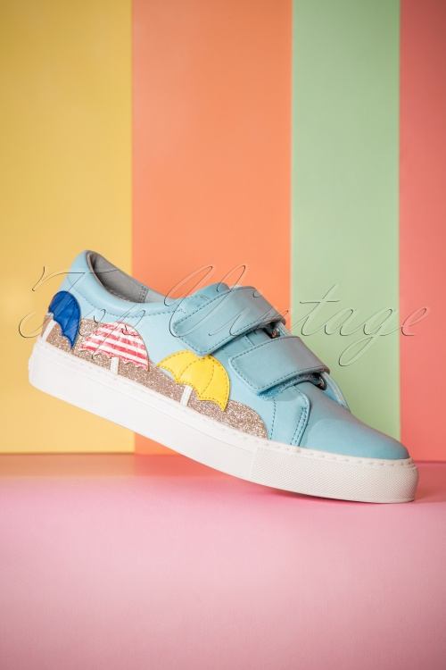 60s mollie sneakers in sky blue. Black Bedroom Furniture Sets. Home Design Ideas