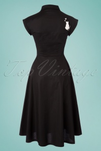 Dancing Days by Banned Meow Dress in Black 102 10 24307 20180328 0004W