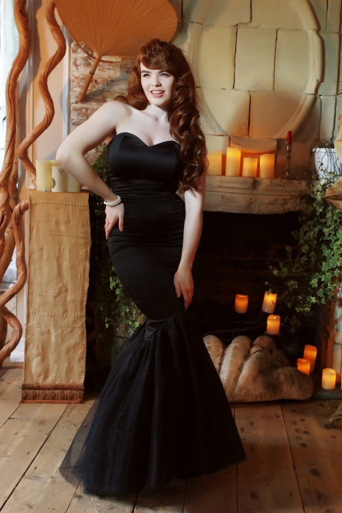 af41ddb92703 50s Luna Maxi Dress in Black