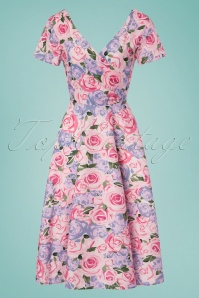 Collectif Clothing Maria Country Garden Swing Dress 23628 20171120 0014W