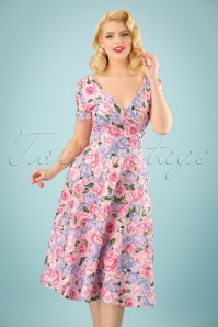 Collectif Clothing Maria Country Garden Swing Dress 23628 20171120 001W