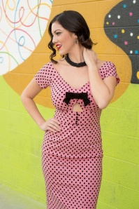 Tatyana Shame Polkadot Pencil Dress Pink 100 29 24683 20180410 02