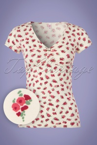 Blutsgeschwister Floral White Top 111 59 23481 20180412 0002W1