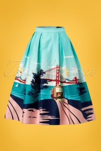 Collectif Clothing Marlu San Francisco Border Swing Skirt 23632 20171122 0002W
