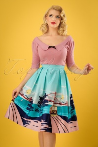 Collectif Clothing Marlu San Francisco Border Swing Skirt 23632 20171122 1W