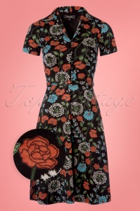 King Louie Floral Black Emmy Dress 102 14 23318 20180412 0001wv
