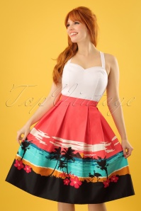 Collectif Clothing Marlu Aloha Border Swing Skirt 23633 20171122 0008w