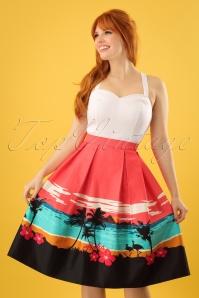 Collectif Clothing Marlu Aloha Border Swing Skirt 23633 20171122 0008w