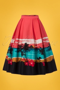Collectif Clothing Marlu Aloha Border Swing Skirt 23633 20171122 0002w