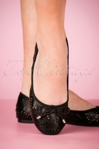 50s Dandelion Flexi Ballerina's in Black