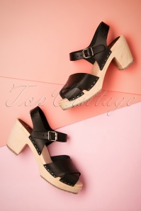 Lotta from Stockholm 60s Black Clogs 421 10 23443 11042018 003W