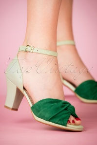 Miss L Fire Evie Green Sandals 403 40 23451 28032018 003W