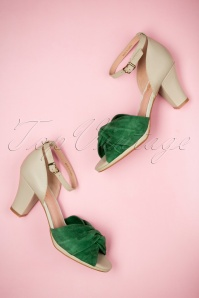 Miss L Fire Evie Green Sandals 403 40 23451 11042018 008W