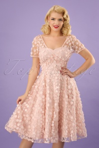 50s Nina Blossom Swing Dress in Blush Pink