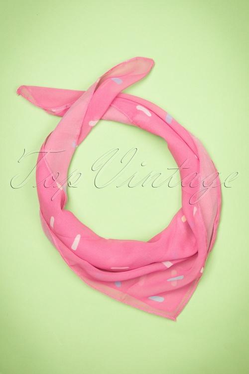 Collectif Clothing Sprinkles Bandana Pink 208 22 24377 15112017 010W