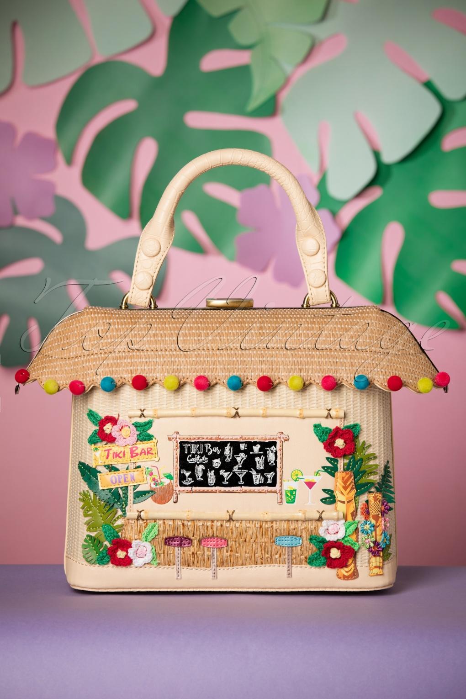 Vintage & Retro Handbags, Purses, Wallets, Bags 50s Tiki Bar Grab Bag in Natural £108.30 AT vintagedancer.com