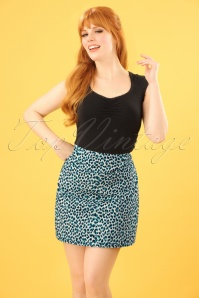 60s Olivia Catnip Skirt in Putty Ecru