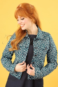 King Louie Janey Jacket in Green Leopard 153 57 23179 20180316 0012W