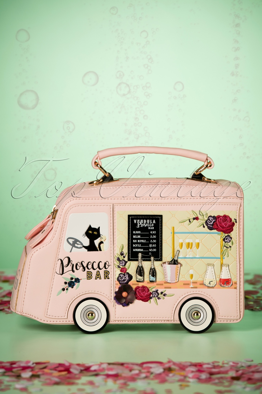 Vintage & Retro Handbags, Purses, Wallets, Bags 50s Prosecco Bar Grab Bag in Pink £86.15 AT vintagedancer.com
