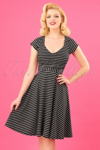 Vintage Chic Striped Dress 102 14 24487 20180227 0005W