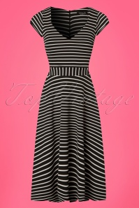 Vintage Chic Striped Dress 102 14 24487 20180227 0001W