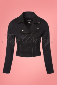 Collectif Clothing Outlaw Foiled Biker Jacket in Black 23613 20171121 0003w