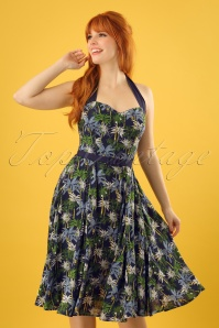 Collectif Clothing Beth Palm Tree Swing Dress 22781 20171121 0010w