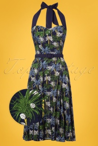 Collectif Clothing Beth Palm Tree Swing Dress 22781 20171121 0003wv