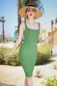 The Dolce Pencil Dress in Pistachio