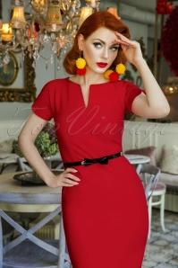 2 Vintage Diva Jayne Pencil Dress Red  20180406 2W
