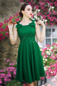 2  Vintage Diva Charlie Swing Dress Green 24590 20180406 2W
