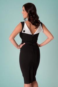 50s Jazmin Pencil Dress in Black