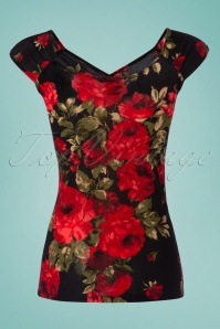 Retrolicious Isabel Top in Black and Red 110 14 25773 20180412 0004w