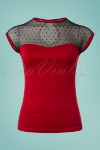 50s Miss Fancy Top in Red