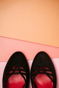 Lulu Hun Deborah Hig Heel Shoes in Black 420 10 23762 19042018 011
