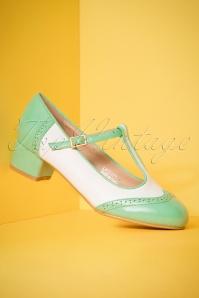 Lulu Hun Georgia Mint Block Heel Shoes 401 40 23791 18042018 005W
