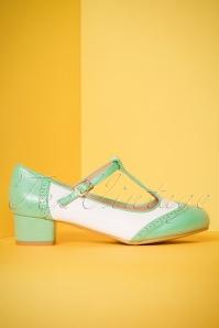 Lulu Hun Georgia Mint Block Heel Shoes 401 40 23791 18042018 003W