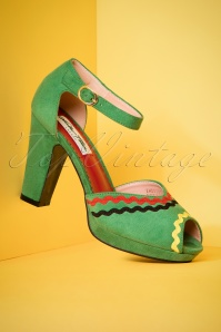 Lulu Hun Lorena Pumps in Green 403 40 23782 18042018 003W