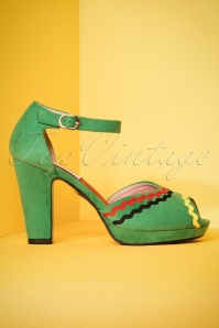 Lulu Hun Lorena Pumps in Green 403 40 23782 18042018 002W