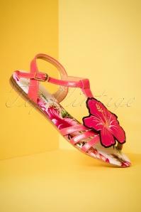 Lulu Hun Lottie Hibiscus Sandals 420 20 23785 18042018 006W