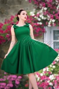 1  Vintage Diva Charlie Swing Dress Green  20180406 1W   kopie