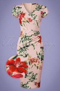 Vintage Chic Cap Sleeve Pink Pencil Dress 100 57 24521 20180416 0001wv