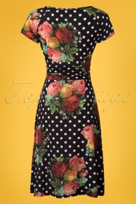 Lalamour Black Polkadot Floral Dress 102 14 23684 20180416 0003W
