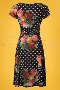 Lalamour Black Polkadot Floral Dress 102 14 23684 20180416 0003W